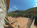 Your private patio with stunning mountain views