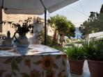 La veranda con vista mare