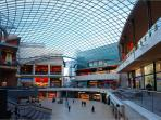 Cabot Circus, three minutes walk from apartment