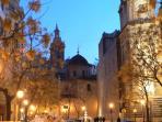Valencia city at night