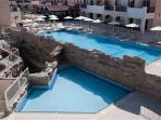 Large swimming pool and children's pool