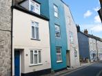 Teal House Exterior - 31 Coombe St - Lyme Regis (The Blue House)
