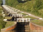 Nearby the famous Caen Hill flight of locks