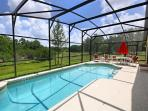 Fully enclosed private pool with conservation view