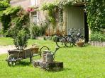 What about a bike ride this morning? Bicycles are waiting for you in the courtyard