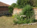 Relax in the courtyard garden