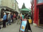 Colourful Stroud with its Saturday farmers' market
