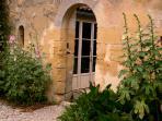 Entry door to rose garden