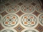 Traditional tiled floor