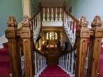 Main stairway we also have a smaller back stairs at Coolclogher House in Killarney.