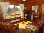 Bright and cosy lounge with panoramic views facing south
