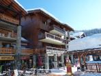The shops, bars & restaurants in the resort centre
