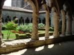 Cloisters at La Romieu - There are fabulous views across the countryside from the tower.
