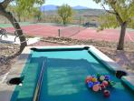 Pool Table & Private Tennis Court
