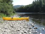 Hire a canoe on the Dordogne in Argentat. big enough for 3 people, safe, comfortable and great fun!