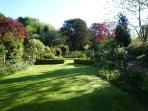The garden at Trymwood shared with the guests