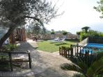 garden, pool  and sea view