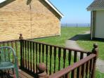 The sea view from the side decking