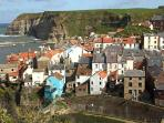 Pretty Staithes, from Cowbar Nab