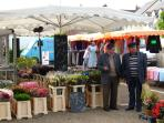 A local market brimming with fresh produce. Markets almost every day to tempt you taste buds!