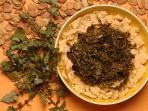 piatti della tradizione( cicore e fave nette )
