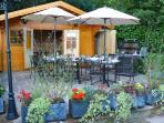 The log chalet & terrace