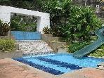 Waterslide pool