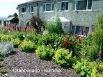 Rear garden with wonderful sea views