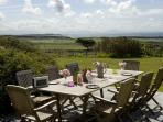 Alfresco Dining with Views of the Mountains and Sea