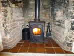 Gorgeous woodburner in inglenook fireplace