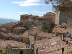 View over Volterra rooftops