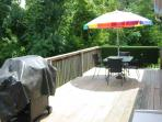 Sit out back and relax after you time in the hot tub