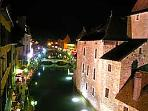 Unique view of Annecy at night.