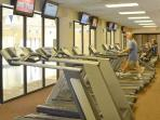 Fitness club 2 blocks away with indoor pool, machines, exercise classes