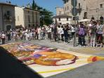 Infiorata di Spello (early June) 30 min. far away