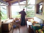 The 30m2 veranda.  County view.