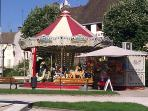 Carousel in Beaune's famous Place Carnot