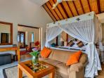 3 bedroom villa master bedroom king size bed with sitting room at the back
