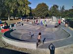 There is a new skate park ideal for teenagers.