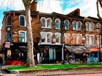 Local area has quaint boutique shops and restaurants