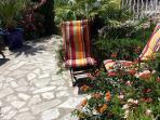Le jardin où se reposer au soleil