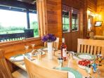 Dining in style with a countryside view