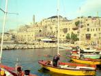 The picturesque Yaffo port is just below the house