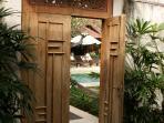 Connection door, into Villa kampung 6-bedroom