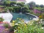 14' X 32' Pebble-Tec pool with waterfall.