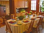 Family Dining seats 10-13.