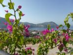 From the pool area out to the Bay of Kalkan