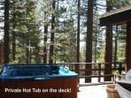 The Hot Tub is available year round and serviced before each new quest arrives.