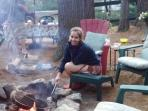 Making Smores at the Firepit