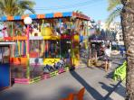 With the night market, there is also a children`s fiarground attraction.
